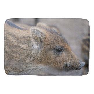 Wild boar piglet bath mat
