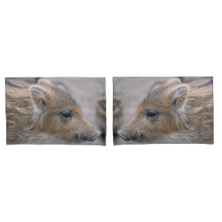 Wild boar piglet pillowcase