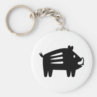 Wild boar symbol keychain