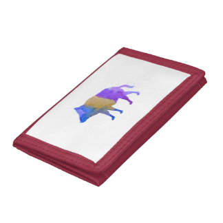 Wild boar tri-fold wallets