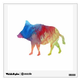 Wild boar wall decal