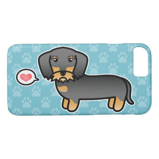 Wild Boar Wirehaired Dachshund Love iPhone 8/7 Case