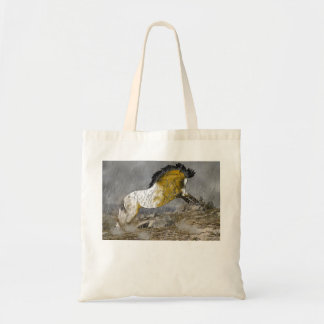 Wild Buckskin Appaloosa Horse Tote Bag