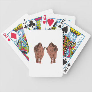 Wild Buffalo Bicycle Playing Cards