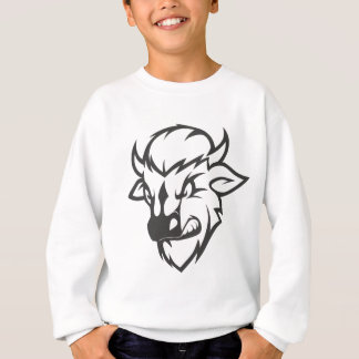 Wild Buffalo Cartoon Sweatshirt