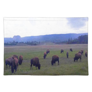 Wild Buffaloes Placemats