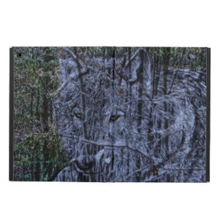 Wild camouflage woodland wildlife Grey wolf Powis iPad Air 2 Case