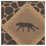 Wild Cat & Animal Print Diamond Pattern. Fabric