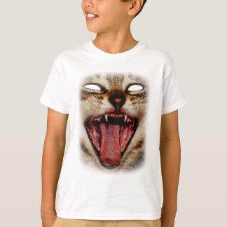 Wild Cat Crazy Mask Animal Design T-Shirt