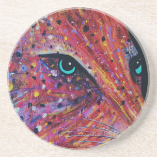 Wild Cat -Painting from 2015 Coaster
