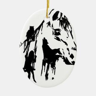 wild ceramic ornament