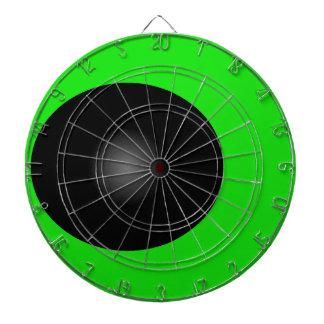 Wild Challenging Darts Game Board Lime Black Dart Boards