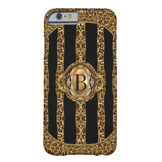 Wild Cheetah Monogram Barely There iPhone 6 Case