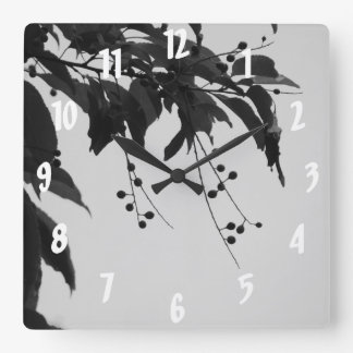 Wild Cherries Square Wall Clock