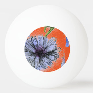 """""""Wild Chicory"""" Floral Ping Pong Ball"""
