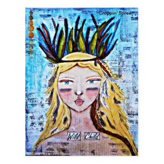 Wild Child by Croppin' Spree Postcard