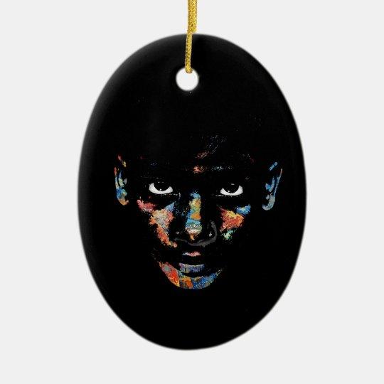 Wild child ceramic oval ornament