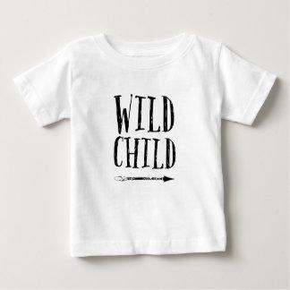 Wild Child hand drawn typography kids T-shirt