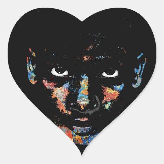 Wild child heart sticker