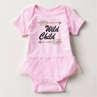 Wild child one sie baby bodysuit
