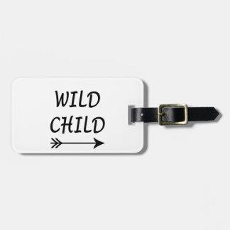 Wild Child present Luggage Tag