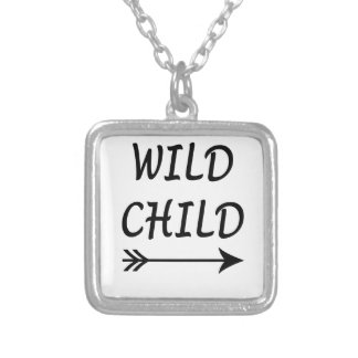 Wild Child present Silver Plated Necklace