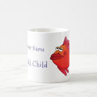 Wild Child Whimsical Fish Art Coffee Mug