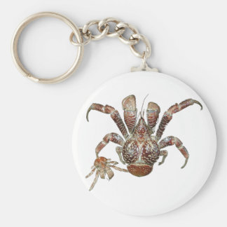 Wild Coconut Crab from Carribean Keychain