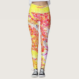 Wild colored leggings! Hot pink, yellow and blue Leggings