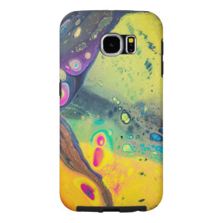 """Wild Colorful Acrylic """"Dirty Pour"""" Samsung Galaxy S6 Case"""