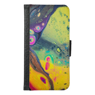 """Wild Colorful Acrylic """"Dirty Pour"""" Samsung Galaxy S6 Wallet Case"""