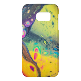 "Wild Colorful Acrylic ""Dirty Pour"" Samsung Galaxy S7 Case"