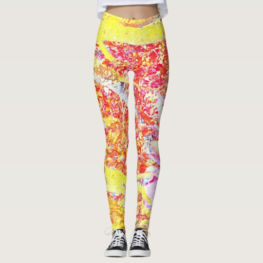 Wild coloured leggings! Hot pink, yellow and blue Leggings