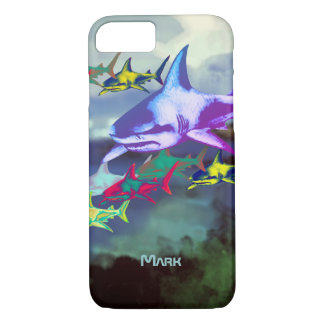 wild cool sharks colorful iPhone 8/7 case