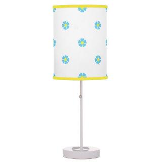 """Wild Cornflowers"" White Table Lamp"