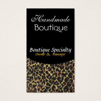 Wild Cougar Animal Print Designer Makeup Salon Business Card