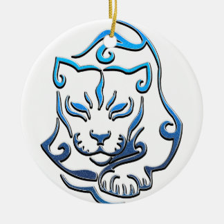 Wild Cougar Cat Ceramic Ornament
