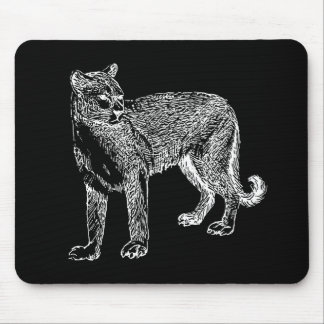 Wild Cougar Sketch Mouse Pad