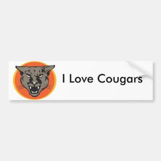 Wild Cougars from Junglewalk..com Bumper Sticker