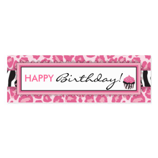 Wild Cupcake CP Skinny Gift Tag Mini Business Card