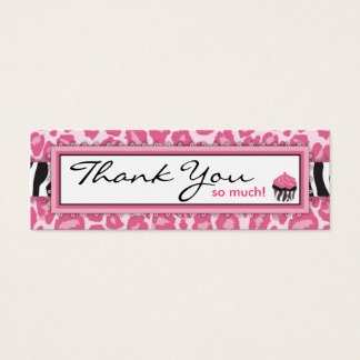 Wild Cupcake CP TY Skinny Gift Tag Mini Business Card