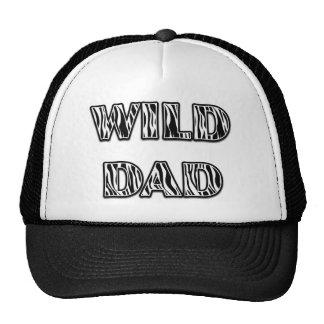 """""""WILD DAD"""" Zebra Stripes Design (Vertical) Trucker Hat"""