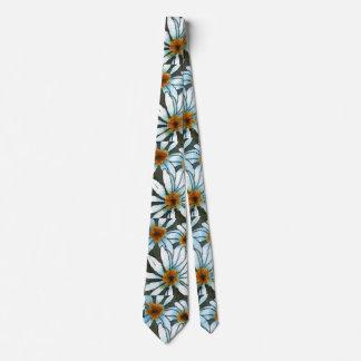 """""""Wild Daisy #2"""" Flower Garden Neck Tie"""