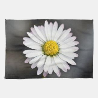 Wild daisy white and yellow kitchen towel