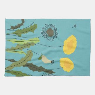 Wild Dandelion Print Kitchen Towel