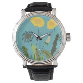 Wild Dandelion Print Watch