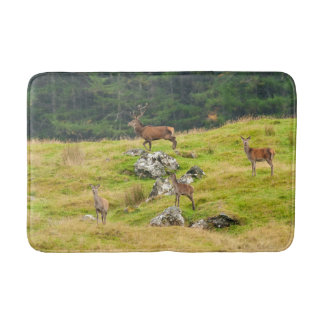 Wild Deer Stag and Hinds Scotland Photograph Bath Mat