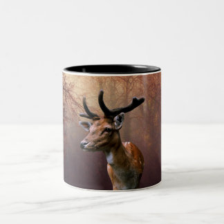 Wild Deer Two-Tone Coffee Mug