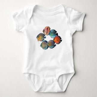 Wild Discus Fish Baby Bodysuit