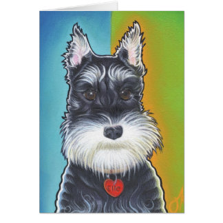 Wild Dog  Schnauzer Card